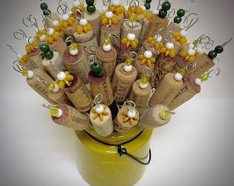 Bouchon de vin autre Bouquet de fleurs en perles