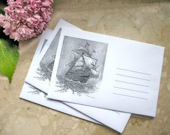 Ship envelopes / handmade envelopes / set of paper envelopes