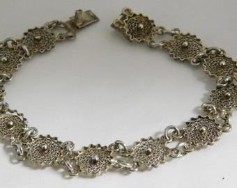 Vintage Handmade Sterling Silver Bracelet