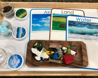Land, Water, Air Montessori Sorting Activity