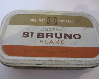 Vintage St Bruno Flake Tobacco Tin Box