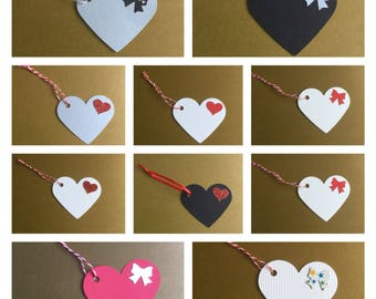 Valentines day gift tags,heart gift tags, birthday gift, romantic gift, wedding gift, gift for him, gift for her, handmade gift tags,