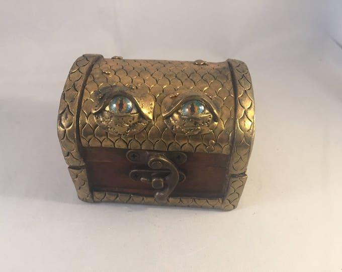 Dragon Box polymer clay Byron the Gold