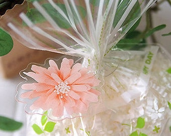 10 Clear Ties - Blossom Ring (2 x 1.5in)