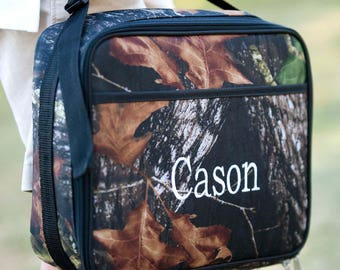 Personalized or monogrammed Woods Lunch box