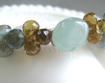 Aquamarine Gemstone Cuff