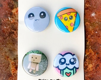 """Cyclop 1"""" Pin Back Button Pack of 4"""