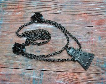 Vintage Copper Necklace, Chain.