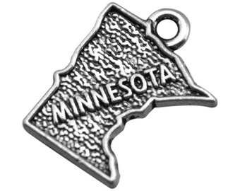 2 Minnesota State Charms, Antique Silver Tone (1J-65)