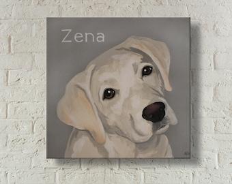 Custom Dog Painting   Custom Pet Portrait   Pet Memorial   Hand Painted   Dog Portrait   Painting From Photo   Gift for Dog Lover