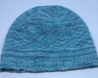 Hand Knit Guernsey Hat / READY TO SHIP