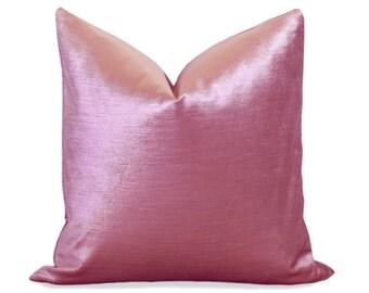 Glisten Velvet Pillow Cover - Pink - Pink Velvet Pillow - Pink Pillow Cover - Velvet Pillow - Decorative Pillow - Designer Pillow