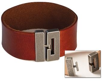 Leather Bracelet Clasp - Bracelet Connector - Metal Clasp - Make Your Own Leather Bracelet