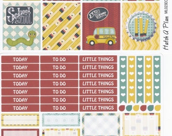 Back To School Planner Stickers | Fits Erin Condren Life Planner | Vertical Layout | Fits MAMBI Happy Planner | Life Planner |ML023