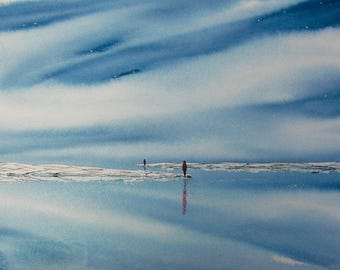Until Our Paths Cross Again WATERCOLOR painting