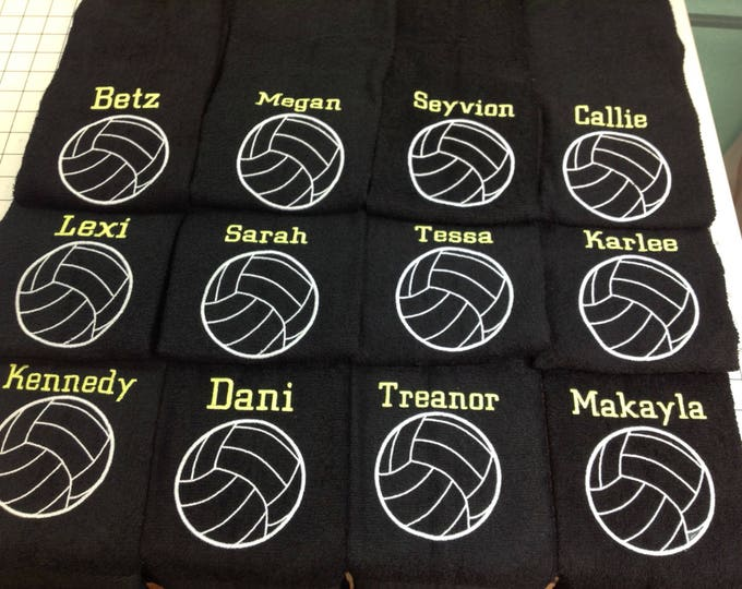 Volleyball, volleyball towel, personalized towel, embroidered towel, personalized gift, volleyball gift,