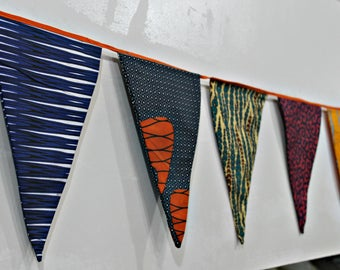 30pc Flag African Print Celebratory Buntings