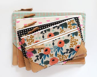 The Double Zip Pouch - PDF Sewing Pattern