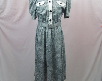 Super Cute Vintage Womens Retro Silky Dress