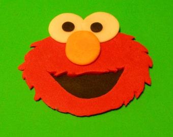 Sesame Street Inspired Elmo Cake Topper & Sesame Street Sign