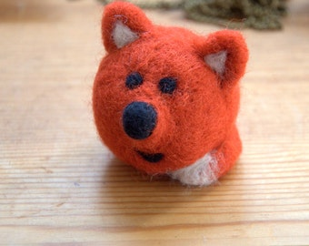 Christmas Needle felted fox ornament orange gift children fantasy animal woodland nursery decor Birthday