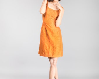 Rustic Orange Lace Dress