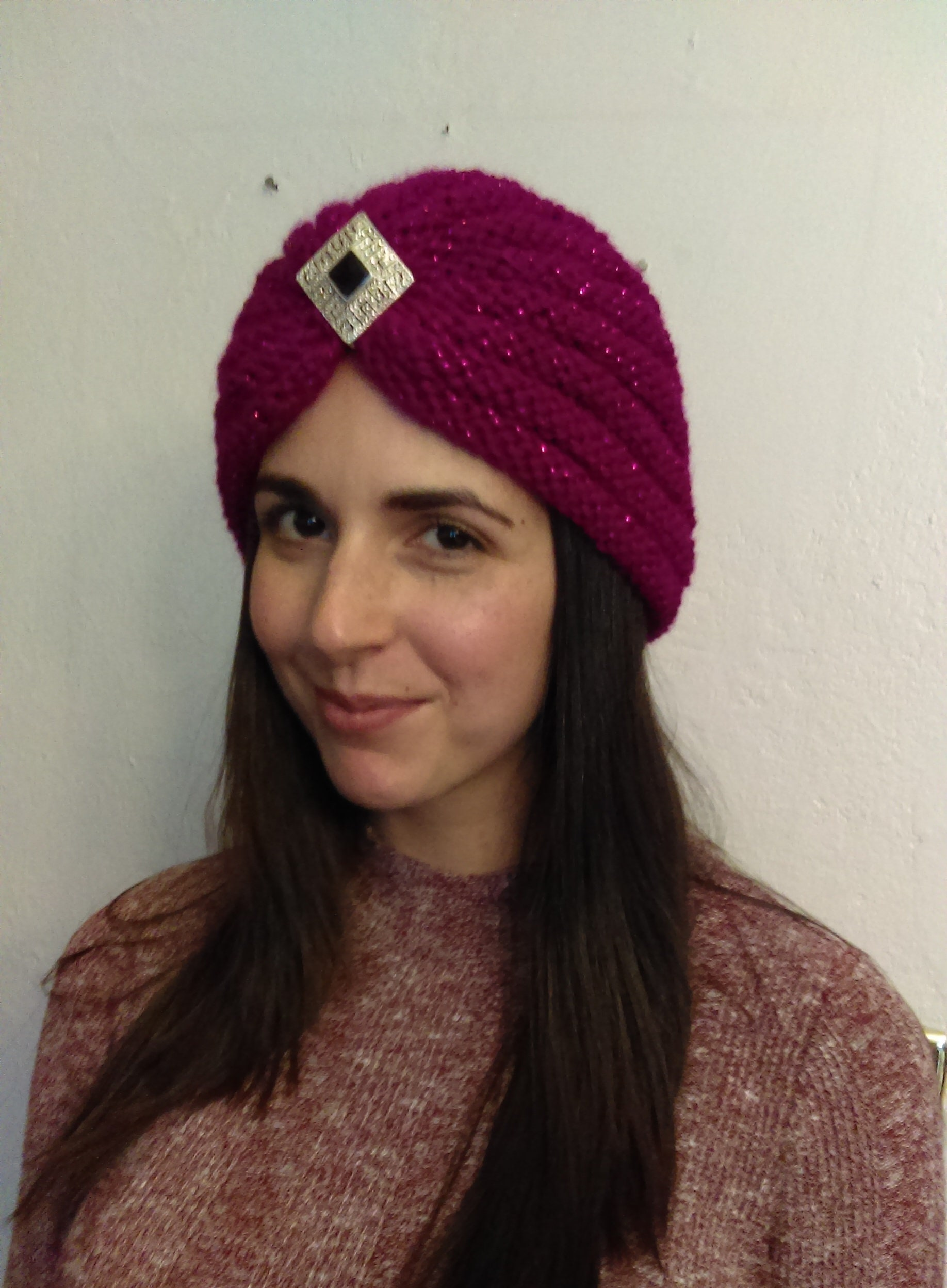 Knit TURBAN PATTERN - Berry Bling from PrimrosePatterns on Etsy Studio