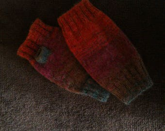 Warmers, mittens, hand knitted, L-12inch, B-9cm