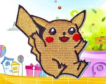 Pokemon Pikachu Patch pokemon Pikachu Iron on patches pokemon embroidered patch pikachu applique badge patch DIY children patches iron