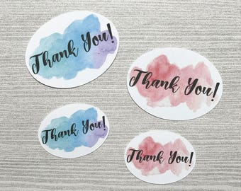 Thank you stickers, package stickers, envelope stickers