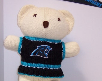 Bear, Carolina Panthers Cheerleader Bear, Baby Girl Bear, Baby Shower Gift, Birthday Gift, Keepsake Bear, Souvenir Bear