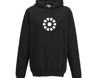 Arc Reactor Hoodie Inspired By Tony Starks Iron Man from the Avengers