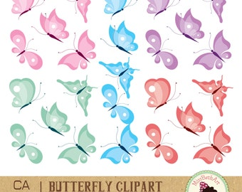 Butterfly Clipart / Scrapbook - Instant Download