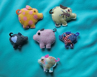 Soft Colorful Pig family