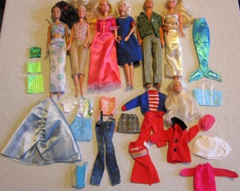 A Lot of 5 Barbie Dolls and 1 Ken Doll w/Accessories2