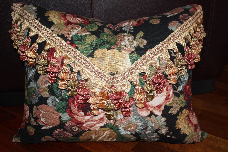 Ralph Lauren Pergola Floral Fabric Pillow Custom # Muebles Ralph Lauren Espana