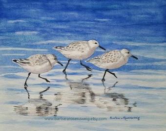 Beach Print, Beach Art, Nautical Decor, Coastal Decor, Coastal Art, Sandpiper Print, Sandpiper Bird, Sandpiper Wall Art, Beach Wall Art