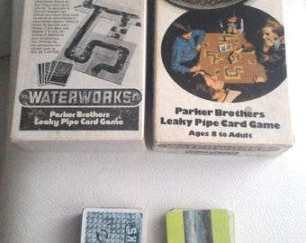 WATERWORKS Leaky Pipe card game A-21 Parker Brothers (1972)