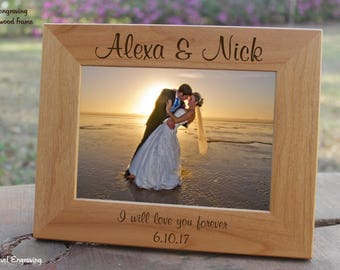 5 Year Anniversary for Him, Gifts for Men, Gifts for Boyfriend, Gifts for Husband, Personalized Engraved Photo Frame Anniversary Gift