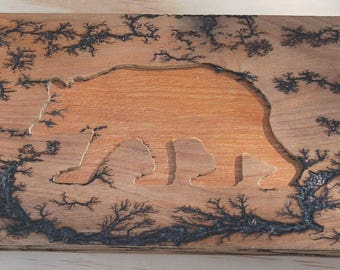 Lichtenberg Trinket - Keepsake Box with Bear Lid
