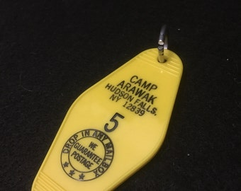 Sleepaway camp key tag