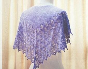 Lilac Leaves Shawl knitting pattern, PATTERN ONLY, by SweetGeorgia Yarns made with Merino Silk Lace yarn, Shawl pattern