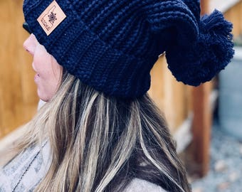 Idaho Slouch Beanie with Pom