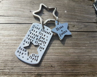 Personalised star friends are like stars keychain gift