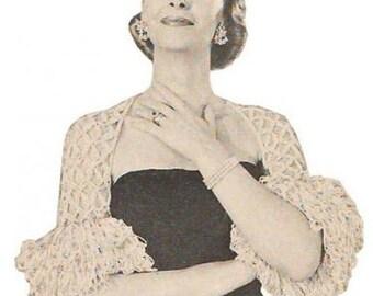 Vintage Crochet Pattern  Frou Frou Shoulderette on PDF