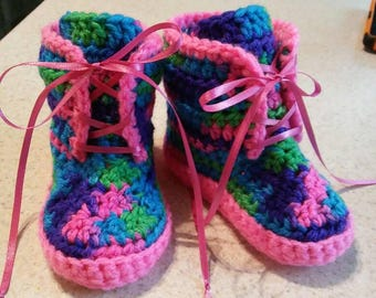 Hiking Boots 6-9 months Crochet