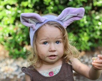 Organic purple Fox Ears Headband, hand dyed with eco friendly dyes and love, eco kids, vegan kids