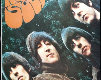 THE BEATLES Rubber Soul LP Vinyl Record - Great Condition - Lennon McCartney Starr Harrison - Free Shipping!