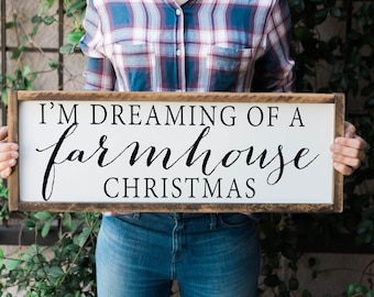 I'm Dreaming of a farmhouse Christmas, Farmhouse Christmas sign, Christmas sign, Farmhouse Christmas Decor, Framed Christmas Sign, Christmas