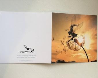 Skylark, Fairy greetings card by FantasyWire